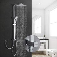 Columna de ducha de acero inoxidable BONADE sin grifo mezclador