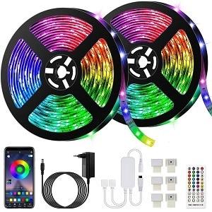 Bonve Pet Tira de LED de música Bluetooth 10m