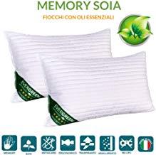 Evergreenweb 2 almohadas de espuma viscoelástica y aceites esenciales
